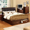 Wooden Platform Bed With Drawers