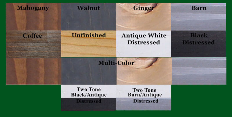 Click Here For Color Chart