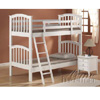 Cottage White Wood Twin over Twin Bunk Bed 02321(A)