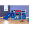 Boys Twin Loft Bed with Slide 22252216(WFS)