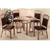 5-Pc Brown Metal Dining Set 120001/02 (CO)
