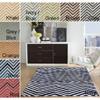 Handmade Alexa Chevron Wool Rug 13878766(OFS161)