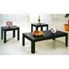 3-Piece Parquet Coffee/End Table Set 1600-BLK (ML)