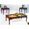 Sculpted  Glass Occasional Table Set 1607CHY (ML)