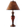 Antique Red Wood Finish Table Lamp 1799 (CO)