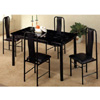5-Pc Dinette Set In Black Marble Finish 2604/2608 (PJ)
