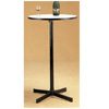 Black Bar Table With White Round Laminated Top 2170 (CO)
