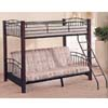 Twin/Full Futon Convertible Bunk Bed 2182BF (IEM)