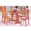 7-Piece Oak Finish Dinette Set 02190T_ (AFS)