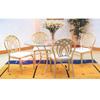 5-Piece Glass Top Dinette Set 2219/29/CBR45 (PJ)