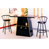 Wooden Bar Table In Black 2232BK (PJ)