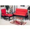 Shalimar Futon Sofa/Bed In Black Finish 2301B_ (IEM)