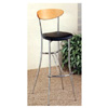 Bar Chair With Black Fabric Seat And Wooden Back 2396 (CO)