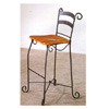 Bar Chair With Wood Seat And Scroll Legs 2493 (CO)