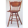Nostalgia Oak Finish  Swivel Bar Chair F4127 (PX)