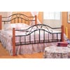 Sandy Black Metal Heart Queen Size Head/Footboard 2950Q (CO)