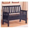 Black Storage Bench 300085 (CO)