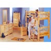 Bunk Bed Set in Natural High Gloss 300-170 (PR)