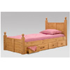 Solid WoodTwin Panel Post Mates Bed 3082 (PC)