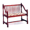 Cherry Finish Wooden Love Seat 3163 (CO)