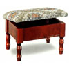 Foot Stool With Hideaway & Embroidered Seat  3344 (CO)