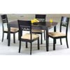 5 Piece  Dark Brown/Ivory Dinette Set 34008 (IEM)