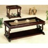 Cherry Finish Coffee Table With Glass Insert 3451 (CO)