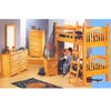 Bunk Bed Set in Warm Honey 350-180 (PR)