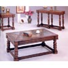 Wood & Slate Top Coffee Table In Distressed Finish 3863 (CO)