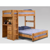 Twin/Full Loft Bed with Desk 4973 (PC)