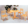 5-Pc Set Natural 40 In Round Wood Table & Chairs 4142-28(CO)