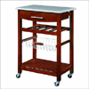 Kitchen Cart W/Granite Top  44037WENGE(LNFS45)