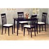 5-Pc Dinette Set In Capuccino Finish 4430 (COu)