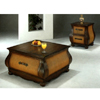 Antique Coffee Finish Coffee Table With Drawers 4479 (CO)