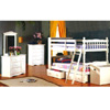 Twin-Twin Convertible Bookcase Bunk Bed 4521WHT (ML)