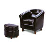 Leather Like Kid Club Chair w/Ottoman 46006_(CO)
