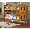 Farmhouse Design Twin Over Twin Size Bunk Bed 460068(CO)