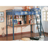 TWIN LOFT BED BLUE 460102(CO)