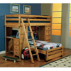 Wrangle Hill Twin/Twin Loft Bed 460141(CO)
