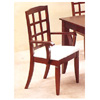 Block Back Arm Chair In Cherry Finish 4748 (CO)