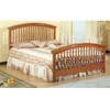 Oak Finish Queen Size Spindle Bed 4886 (CO)