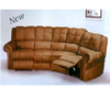 Harmony Leather Match Sectional 5050 (A)