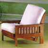 Teak Finish Futon Chair 5072 (WD)