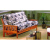 Teak Finish Wood Futon Frame 5070 (WD)