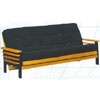 Golden Oak/Black Wood Futon Frame 5082D (WD)
