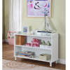 Wood 2-Tier Bookcase White Finish R1015(KBFS)