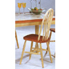 Windsor Style Chair In Buttermilk & Oak Finish 5229 (CO)