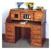 Deluxe Roll Top Desk In Oak 5304 (CO)