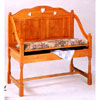 Oak Finish Love Seat 5387 (CO)