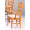 Pine Veneer Ladder Back Arm Chair 5513 (CO)